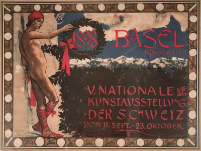 Hans Sandreuter Swiss National Art Exhibition Poster by Hans Sandreuter Circa 1898