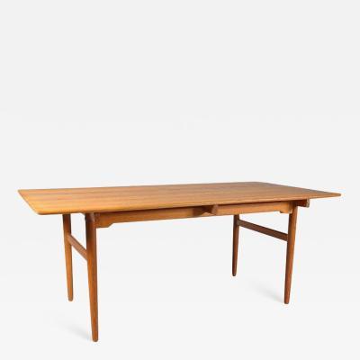 Hans Wegner 1950s Hans J Wegner Oak Dining Table for Andreas Tuck in Denmark