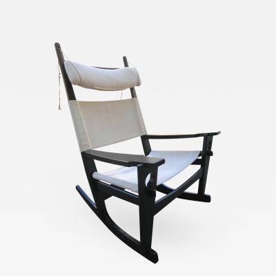Hans Wegner 1960s Hans Wegner Keyhole Rocking Chair