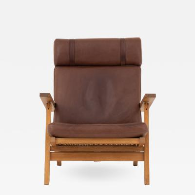 Hans Wegner AP 71 Easy chair in brown leather