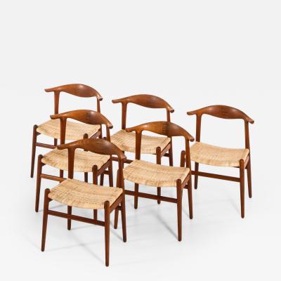 Hans Wegner Armchairs Model JH 505 Produced by Cabinetmaker Johannes Hansen