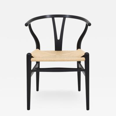 Hans Wegner CH 24 Black Paint Y Chair