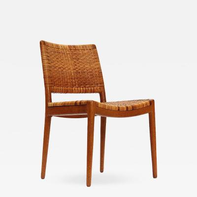 Hans Wegner Caned Oak Chairs by Hans Wegner