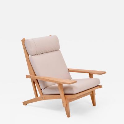 Hans Wegner Danish Mid Century Modern GE 375 Arm chair by Hans J Wegner for Getama