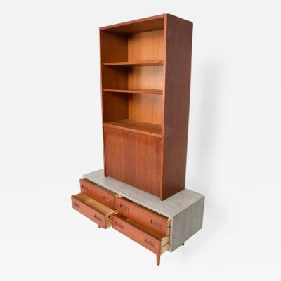 Hans Wegner Danish Modern Cabinet with Hutch Teak