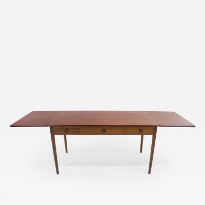 Hans Wegner Danish Modern Expandable Teak Oak Desk Designed by Hans Wegner