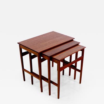 Hans Wegner Danish Modern Nesting Tables Designed by Hans Wegner