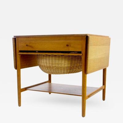 Hans Wegner Danish Modern Oak Sewing Cabinet Designed by Hans Wegner
