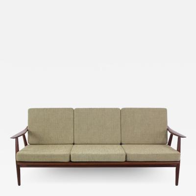 Hans Wegner Danish Modern Teak Framed Sofa Designed by Hans Wegner