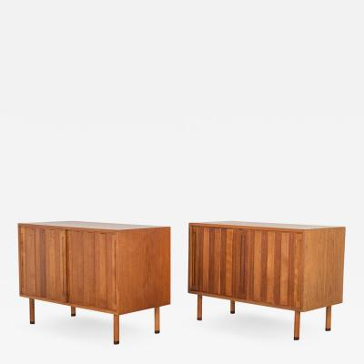 Hans Wegner Danish White Oak Cabinet with Rosewood Feet