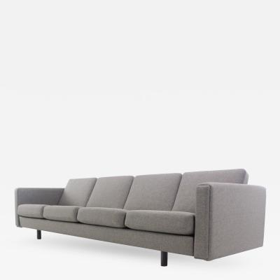 Hans Wegner Dramatic Danish Modern Four Place Sofa Designed by Hans Wegner