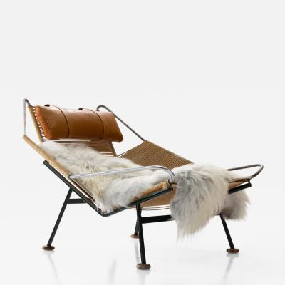 Hans Wegner Early Flag Halyard Chair GE225 by Hans Wegner for GETAMA Denmark 1950s