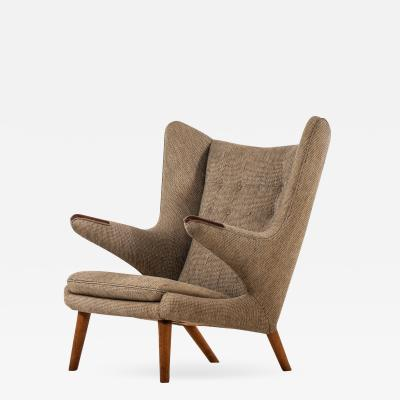 Hans Wegner Easy Chair Model Papa Bear Produced by A P Stolen