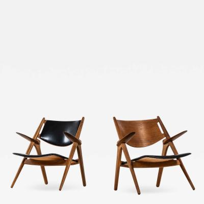 Hans Wegner Easy Chairs Model CH 28 Produced by Carl Hansen S n in Denmark