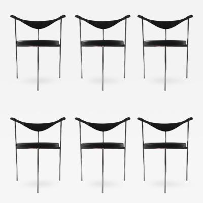 Hans Wegner Fritz Hansen Hans Wegner Frederick Sieck Designed Set of Six Dining Office Chair