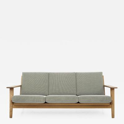 Hans Wegner GE 290 New Upholstered 3 Seater Sofa