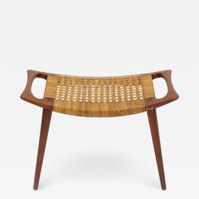 Hans Wegner HANS J WEGNER OAK AND CANE BENCH