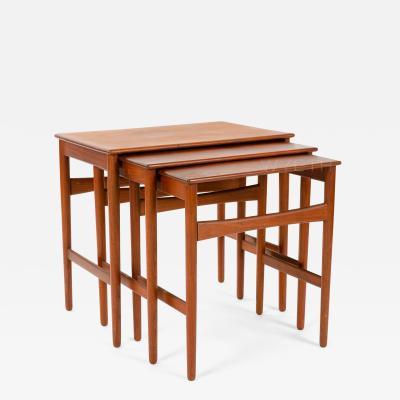 Hans Wegner HANS J WEGNER TEAK NESTING TABLES