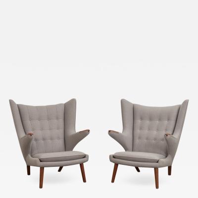 Hans Wegner Hans J Wegner AP 19 Papa Bear Chairs