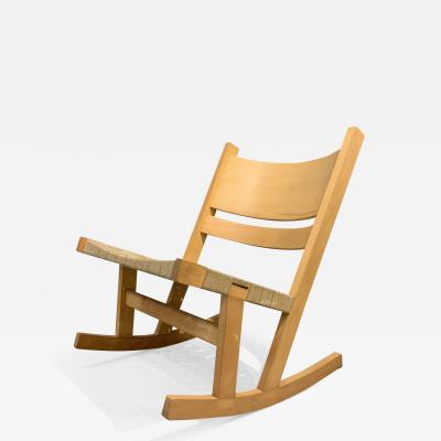 Hans Wegner Hans J Wegner Ge 674 Beech Webbed Rocking Chair Getama 1970s