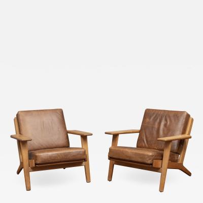 Hans Wegner Hans J Wegner Lounge Chairs for Getama Model 290