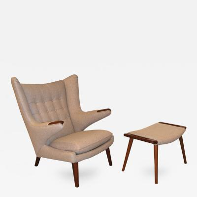 Hans Wegner Hans J Wegner Papa Bear AP Stolen Chair and Stool