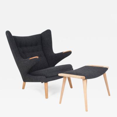 Hans Wegner Hans J Wegner Papa Bear Chair and Stool by AP Stolen