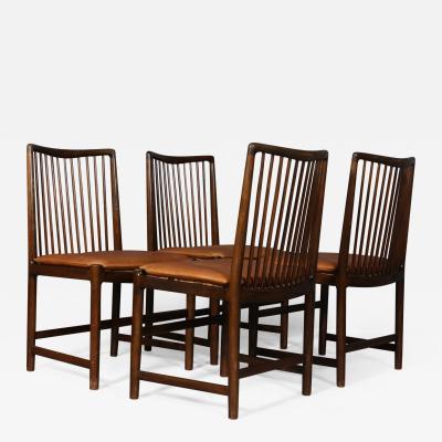 Hans Wegner Hans J Wegner Set of four chairs rhus R dhus 4