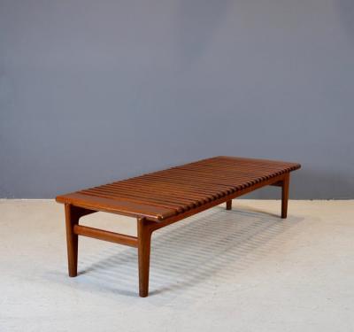 Hans Wegner Hans J Wegner Slatted Bench or Coffee Table 1950s