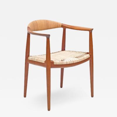 Hans Wegner Hans J Wegner Woven Cane Teak The Chairs for Johannes Hansen