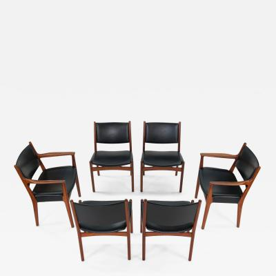 Hans Wegner Hans J Wegner for Johannes Hansen JH 525 and JH 526 Dining Chairs in Teak