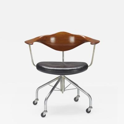 Hans Wegner Hans J Wegner for Johannes Hansen Swivel Office Chair