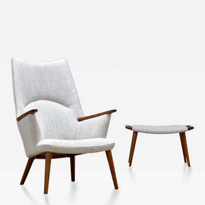 Hans Wegner Hans Wegner Chair and Ottoman Model AP 27 1950s