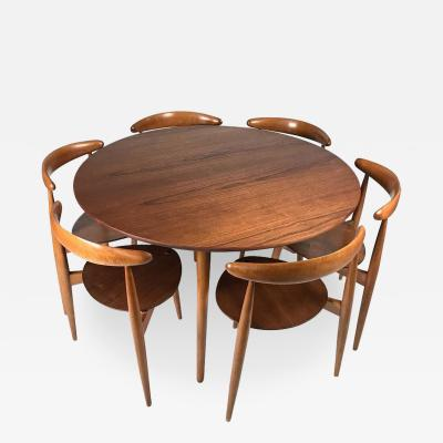 Hans Wegner   Hans Wegner U0027Heartu0027 Dining Table And Chairs For Fritz Hansen