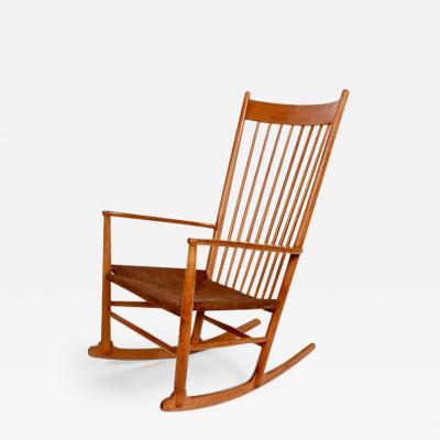 Hans Wegner Hans Wegner J16 Beech Rocking Chair circa 1950
