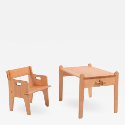 Hans Wegner Hans Wegner Little Peters Chair and Table