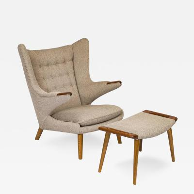 Hans Wegner Hans Wegner Papa Bear Chair and Footstool