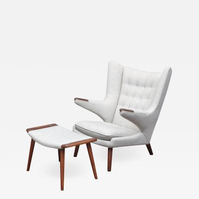 Hans Wegner Hans Wegner Papa Bear Chair and Ottoman for A P Stolen
