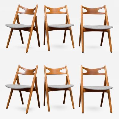 Hans Wegner Hans Wegner Sawbuck Dining Chairs