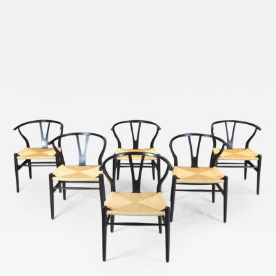 Hans Wegner Hans Wegner Set of Six Wishbone Chairs 1960s
