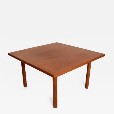 Hans Wegner Hans Wegner Teak Oak Coffee Table Mid Century Danish Modern
