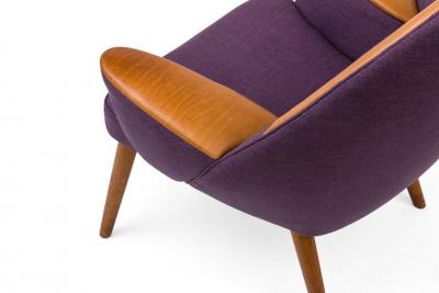 Hans Wegner Hans Wegner Upholstered Peacock Easy Chair Model JH521