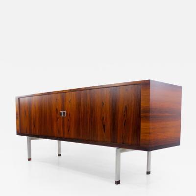 Hans Wegner Impressive Danish Modern Rosewood Credenza w Tambour Doors by Hans Wegner