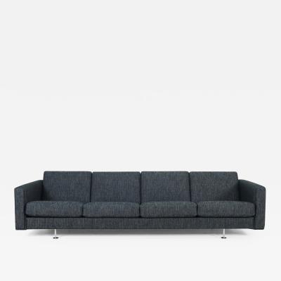 Hans Wegner Impressive Scandinavian Modern Four Place Sofa Designed Hans Wegner
