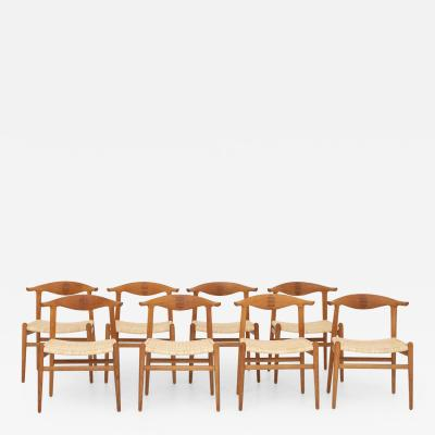Hans Wegner JH 505 Cow Horn Chairs set