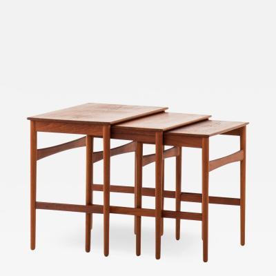 Hans Wegner Nesting Tables Produced by Andreas Tuck