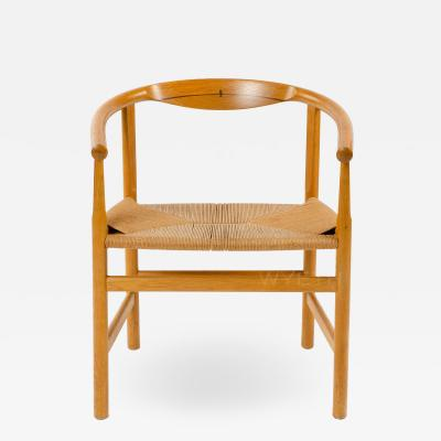 Hans Wegner OAK ARM CHAIR WITH WENGE INLAY