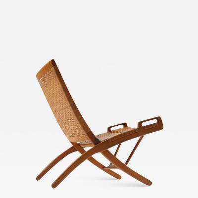 Hans Wegner Oak and Cane Folding Chair