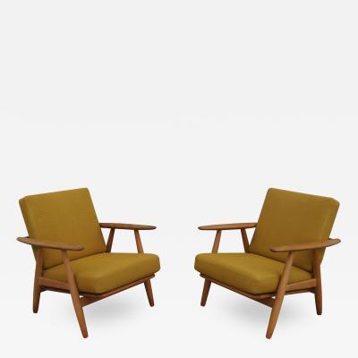 Hans Wegner Pair of GE240 Cigar Chairs by Hans Wegner for GETAMA
