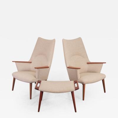 Hans Wegner Pair of Hans J Wegner AP 27 Lounge Chairs